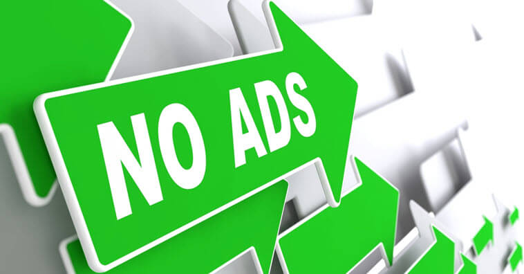 Sign Saying No Ads