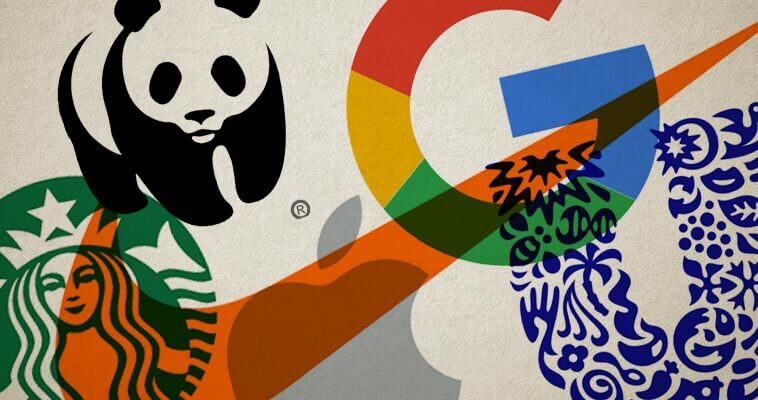 A collage of popular brand logos