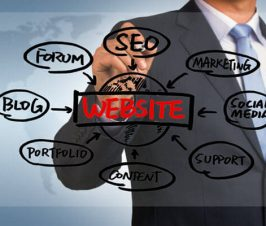 Man outlining components of a website