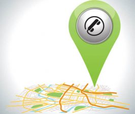 Location pin on a map