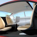 interior of self driving car prototype