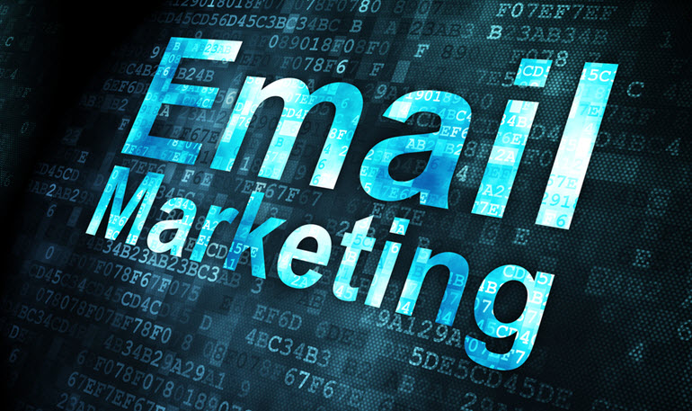 Email Marketing written on black background