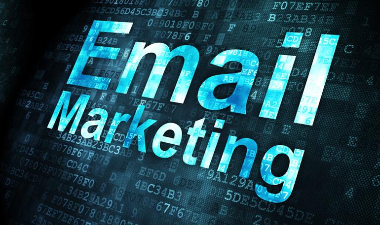 Email Marketing written on black background