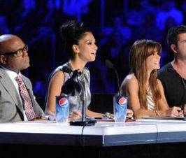 American Idol Judges with Pepsi cups