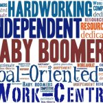 Word cloud about baby boomers