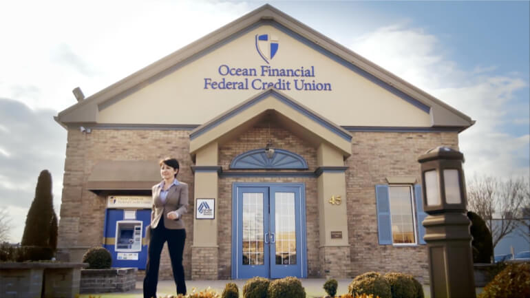 Exterior of Ocean Financial Federal Credit Union