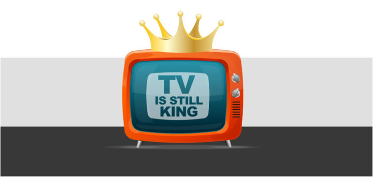 Illustration of a TV with a crown