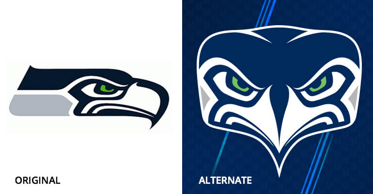 Seattle Seahawks Old and New Logos