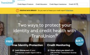 TransUnion Home Page