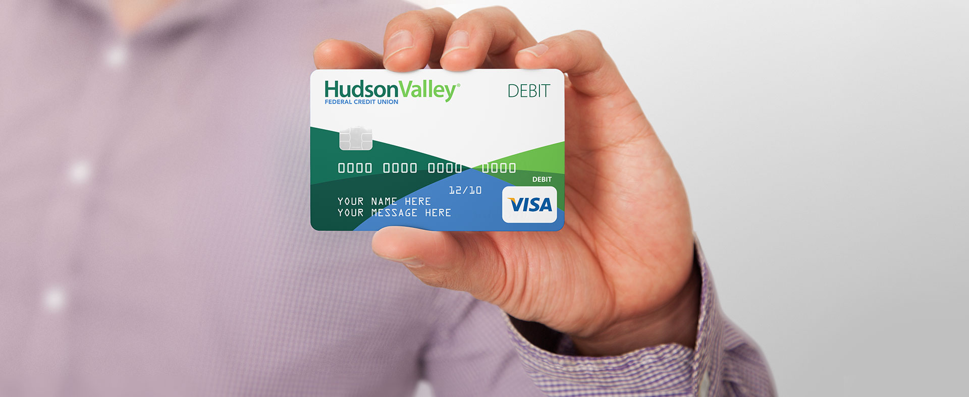 Hand Holding Hudson Valley Federal Credit Union Credit Card