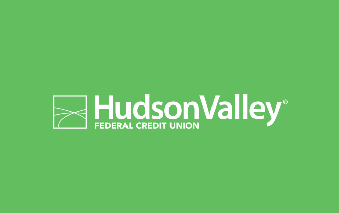 Hudson Valley Federal Credit Union Knockout Logo
