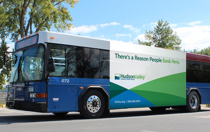 Hudson Valley Federal Credit Union Bus Billboard