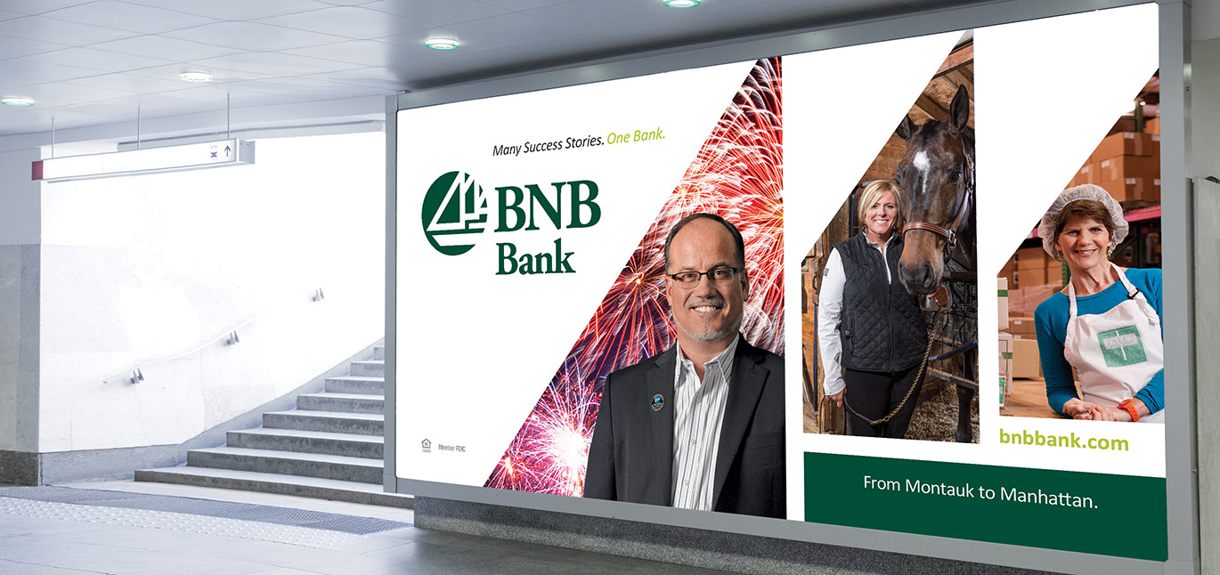 BNB Bank Out Of Home Billboard in Subway