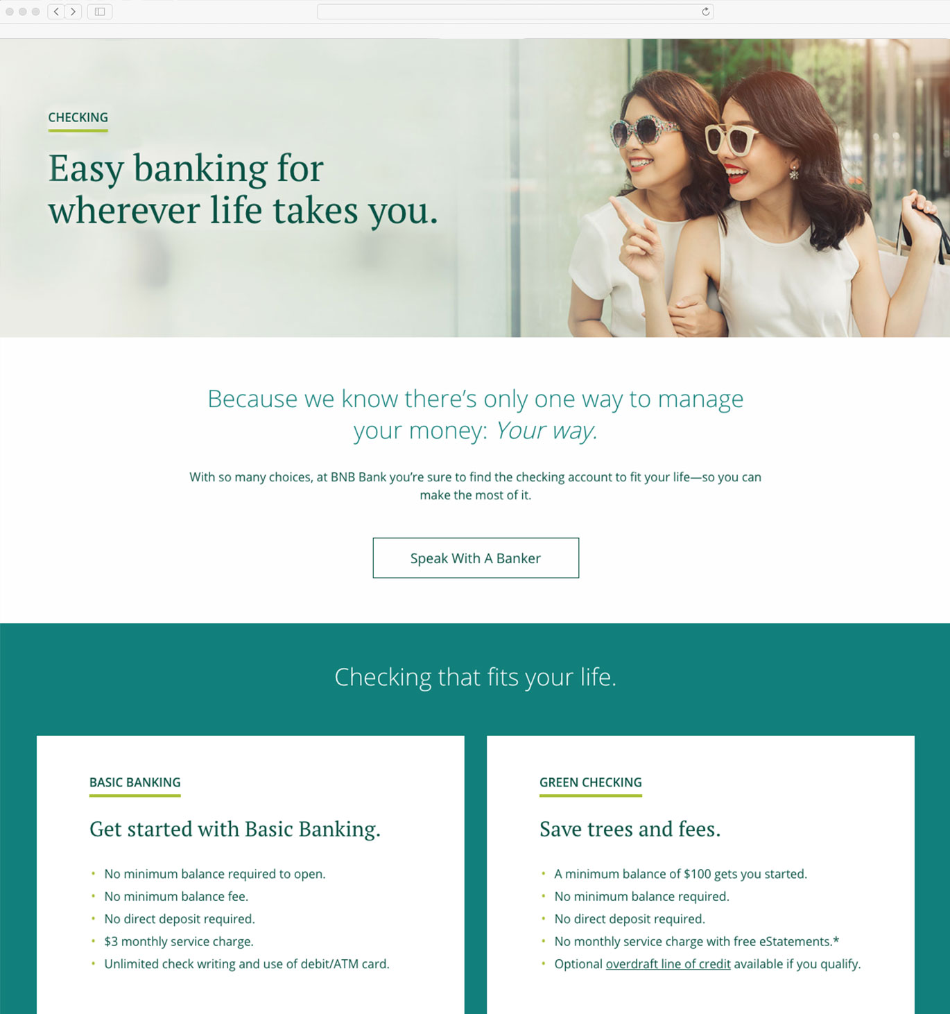 BNB Bank website