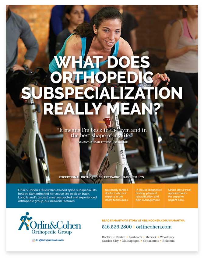 Orlin & Cohen print ad - spin class