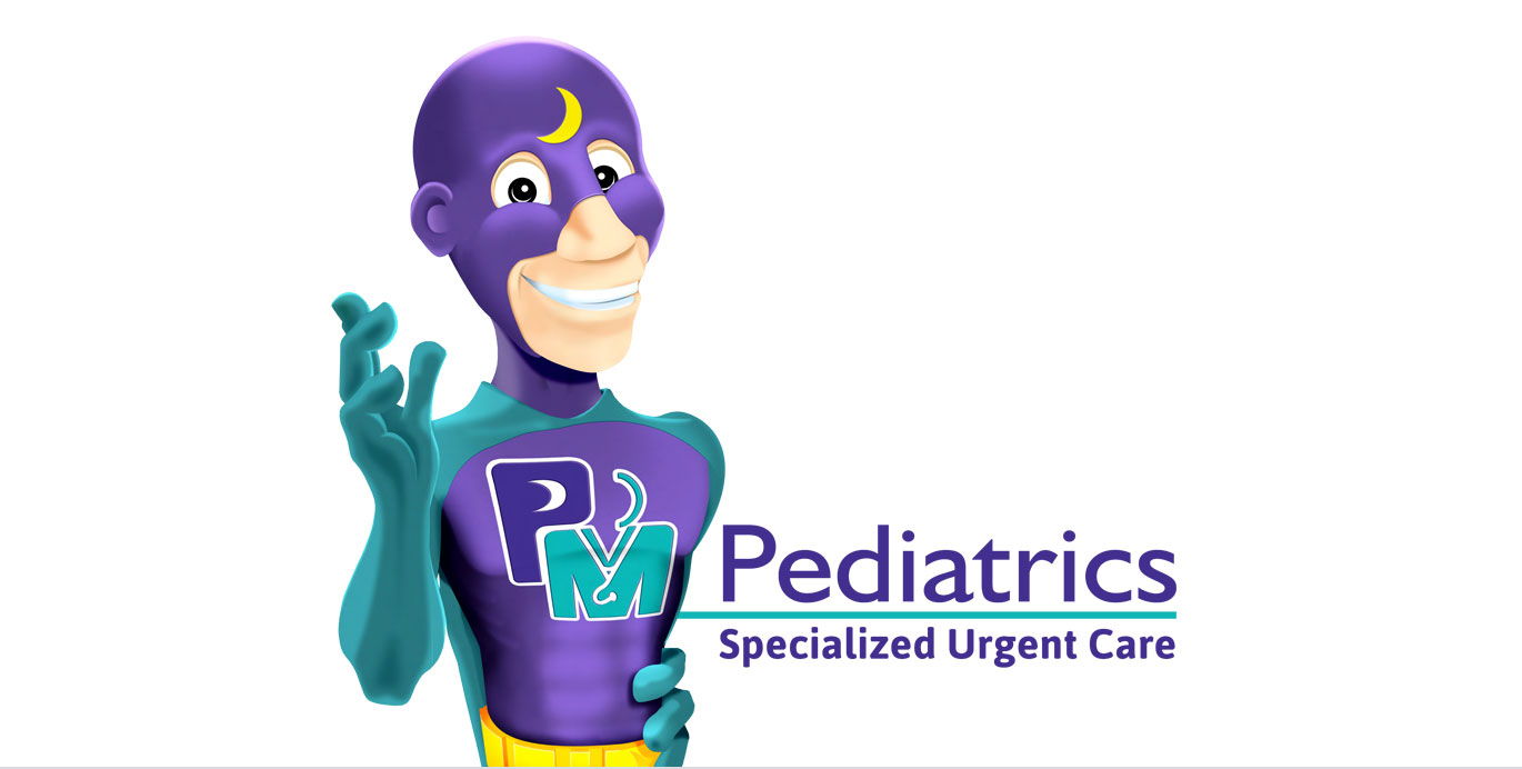 PM Pediatrics and Captain PM logo lockup