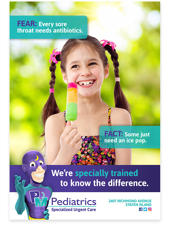 PM Pediatrics Fear Fact Campaign Ad - Ice Pop