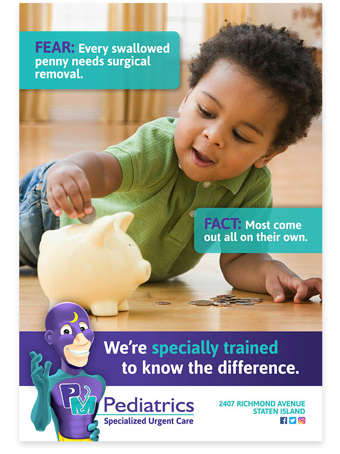 PM Pediatrics Fear Fact Campaign Ad - Toddler with coins