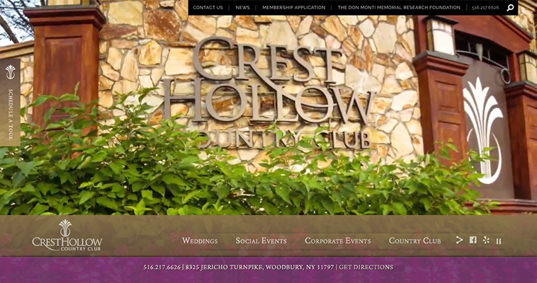 Austin & Williams Creates New Website for Crest Hollow Country Club