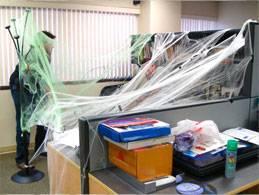 webbing on desk