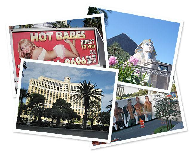 vegas postcards