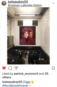 bowie advertisement on subway station