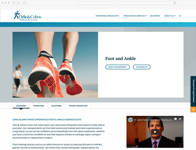 ORLIN AND COHEN FOOT ANKLE LINK VISUAL