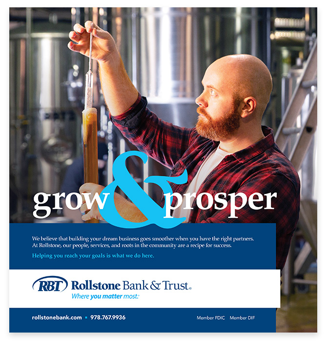 Rollstone Bank & Trust Ad