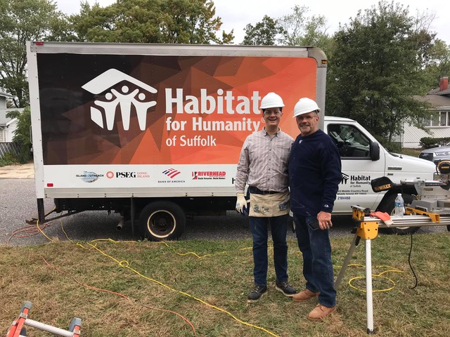 Austin Williams Builds with Habitat for Humanity
