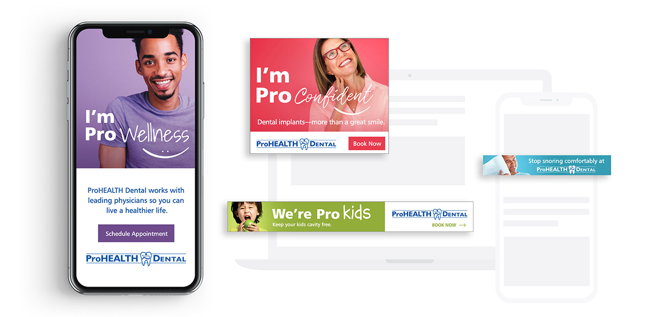 ProHEALTH Digital Marketing Ads designed by Austin Williams, a New York Digital Marketing Agency