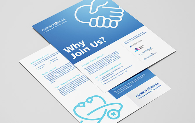 ProHEALTH Dental Flyer Rebranding Design by Austin Williams, a New York Digital Marketing Agency