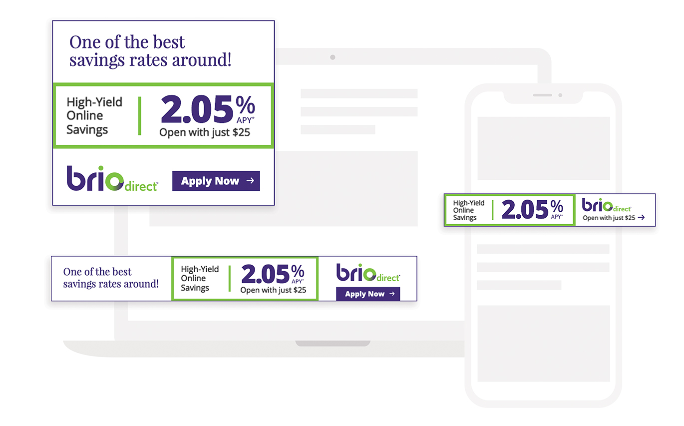 BrioDirect Bank Marketing Materials Case Study by Austin Williams a New York Digital Marketing Agency
