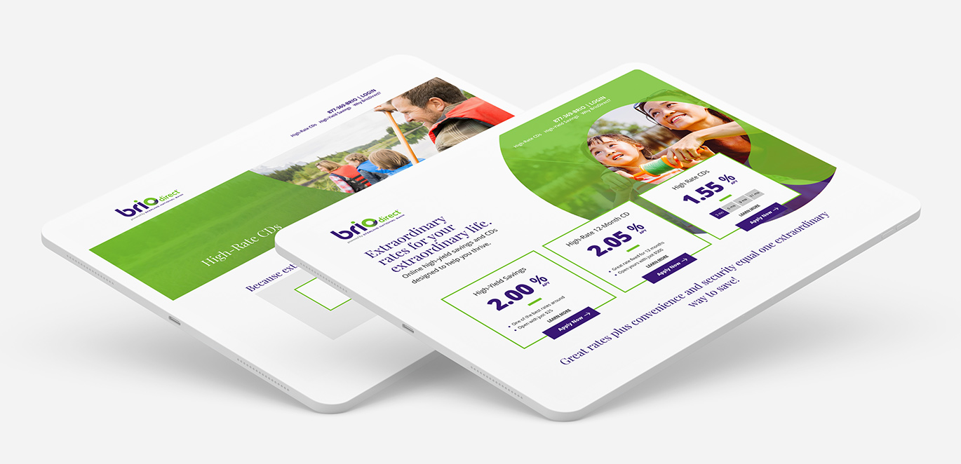 BrioDirect Bank Mobile Devices Case Study by Austin Williams a New York Digital Marketing Agency