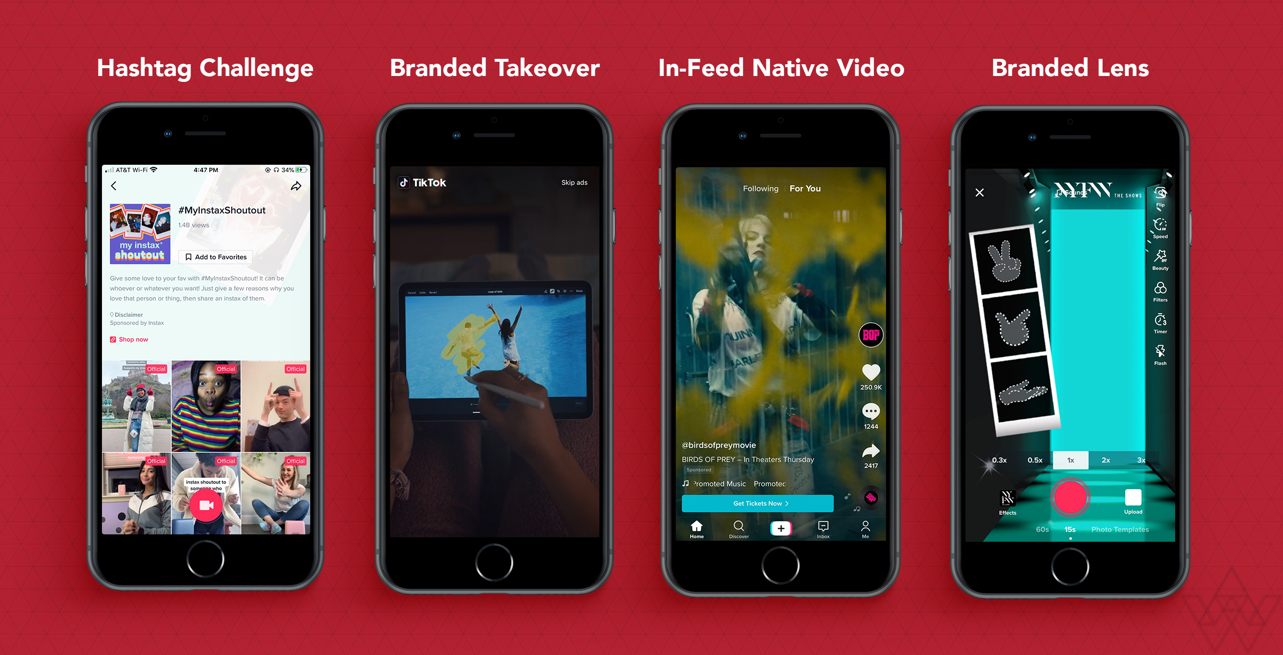 Examples of the TikTok Advertising Placements
