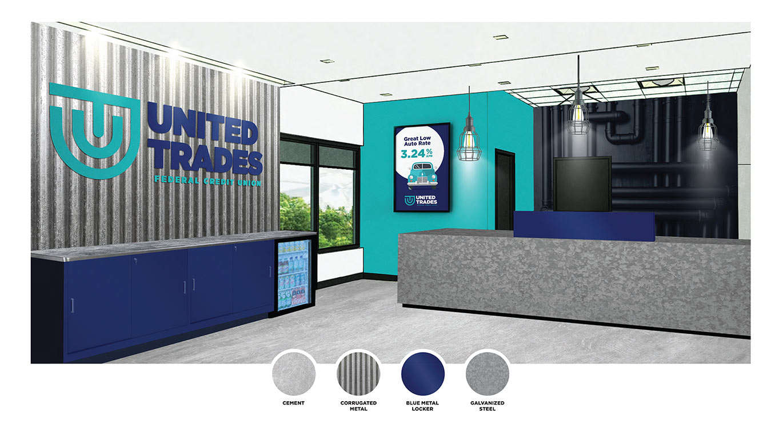 UTFCU Branch Interior Design Mock Up by Austin Williams a New York Digital Marketing Agency