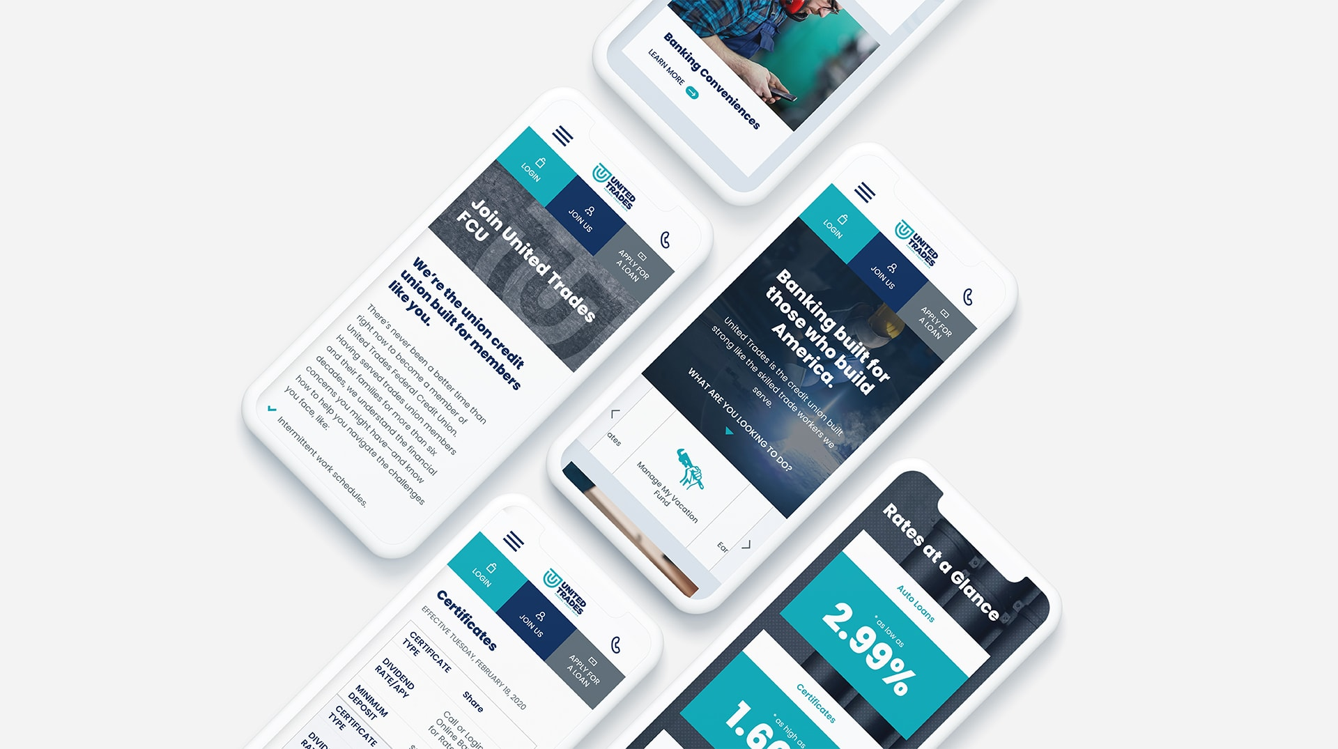 UTFCU Mobile Optimized Website Redesign by Austin Williams a New York Digital Marketing Agency