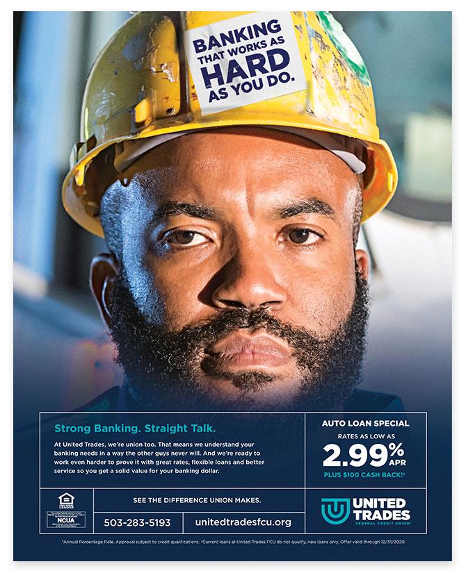 UTFCU Blue Collar Worker Advertisement by Austin Williams a New York Digital Marketing Agency