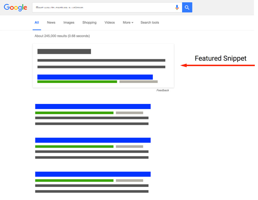 Featured Snippet Search Engine Optimization Example